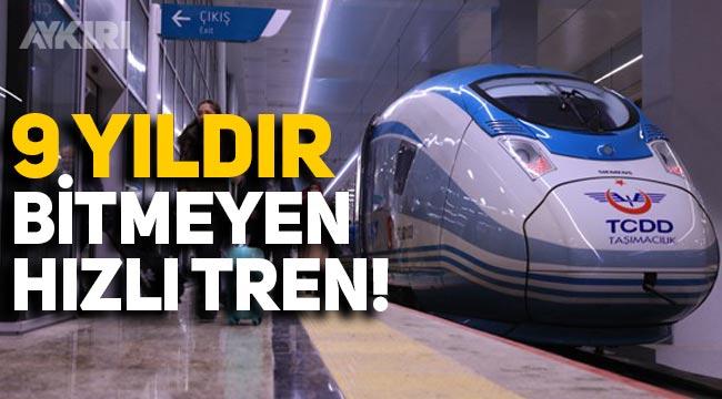 """Bursa Hızlı Tren Projesinin temeli 9 yıl önce atıldı: """"Ne tren var ne demiryolu!"""""""