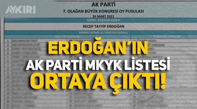 Erdoğan MKYK listesi ortaya çıktı! İşte AK Parti MKYK asil ve yedek üye adayları...