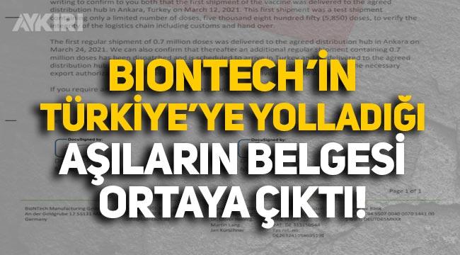 Fatih Altaylı, Biontech'in Türkiye'ye verdiği aşıların belgesini yayınladı!