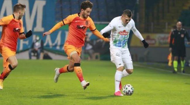 Galatasaray şampiyonluk yolunda ağır yara aldı! Sahasında Çaykur Rizespor'a 4-3 mağlup oldu
