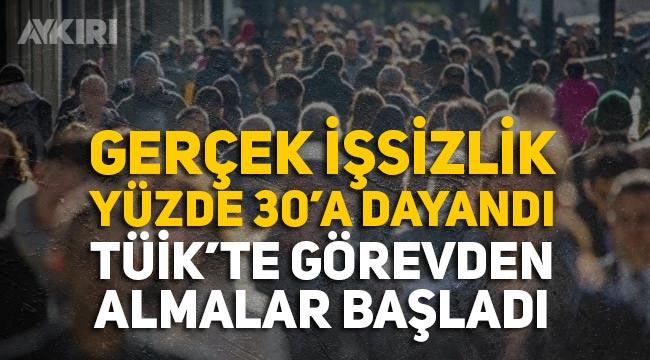 Gerçek işsizlik yüzde 30'a ulaştığı açıklandı TÜİK'te görevden almalar başladı!