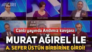 Halk TV canlı yayınında Murat Ağırel ve Gelecek Partili Ayhan Sefer Üstün arasında andımız tartışması