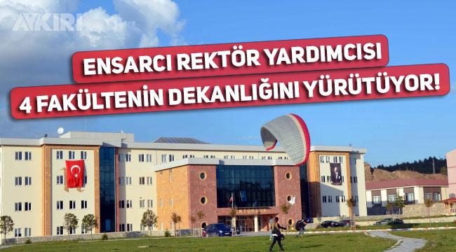 Hitit Üniversitesi Rektör Yardımcısı Halil İbrahim Şimşek, 4 fakültenin dekanlığını aynı anda yürütüyor