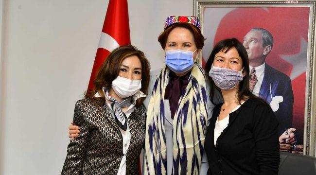 Meral Akşener, Doğu Türkistan heyeti ile bir araya geldi