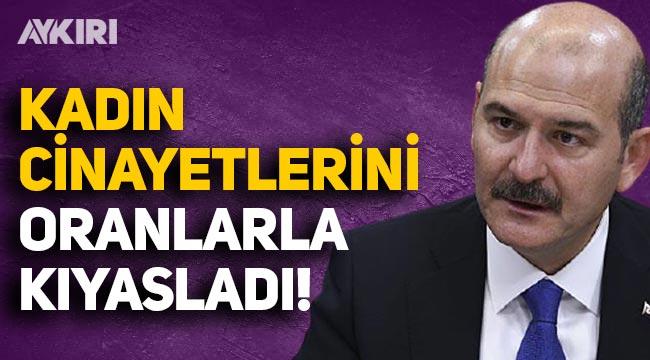 Süleyman Soylu, Türkiye'deki kadın cinayetlerini Dünya ve Avrupa oranlarıyla kıyasladı