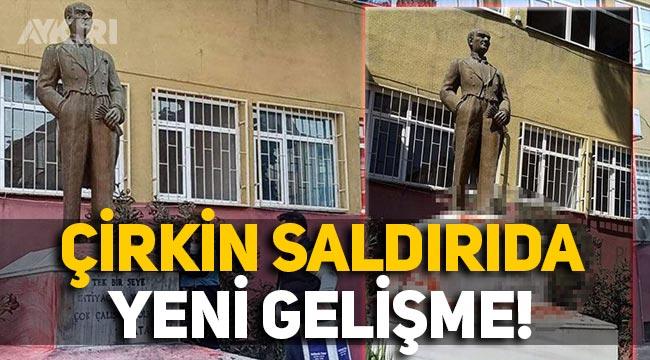 Tekirdağ'daki Atatürk heykeline çirkin saldırıda yeni gelişme: Yakalandılar