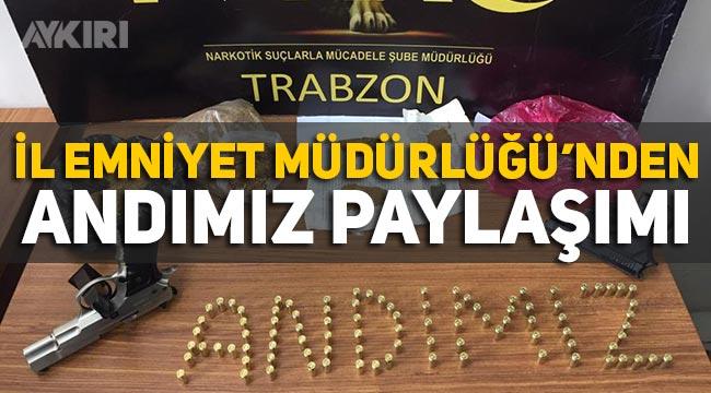 """Trabzon Emniyet Müdürlüğü'nden """"Andımız"""" paylaşımı"""