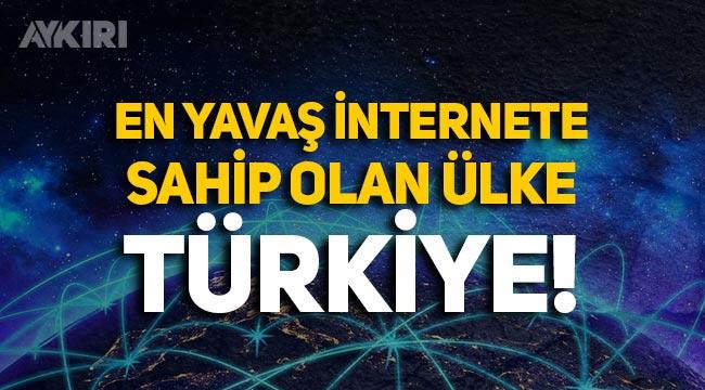 Türkiye, OECD ülkeleri arasında en yavaş internete sahip!
