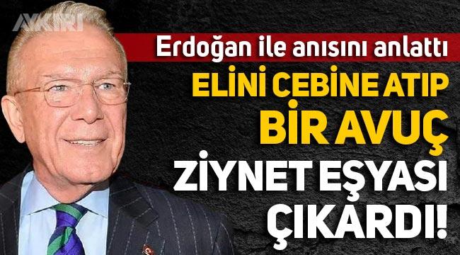 Uğur Dündar, Erdoğan ile anısını anlattı: Elini cebine atıp bir avuç ziynet eşyası çıkardı!