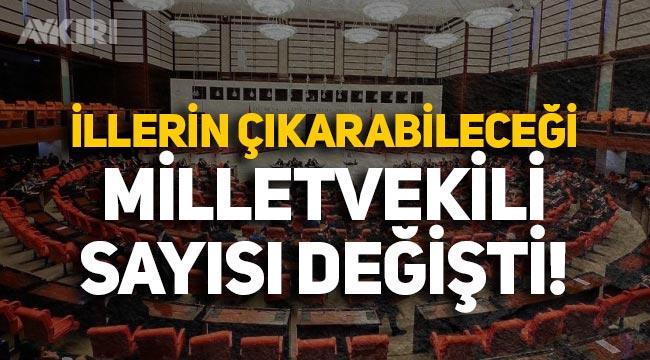 YSK'dan flaş karar: 4 ilde milletvekili sayısı değişti!