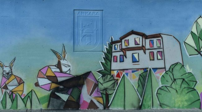 ABB, Başkent'in duvarlarını 23 Nisan'a özel sanatla buluşturdu