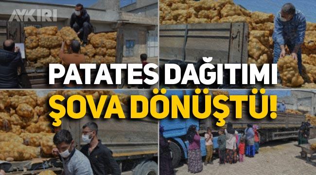 AK Parti'nin patates dağıtımı şova dönüştü, siyasilerden tepki geldi