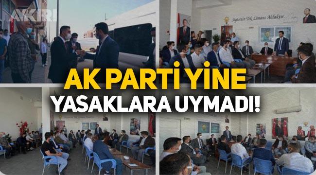 AK Parti yine yasaklara uymadı! Gençlik Kolları'ndan kalabalık teşkilat ziyareti