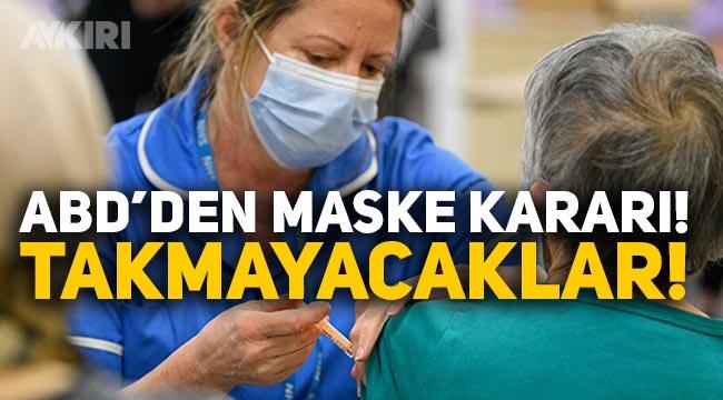 Aşı olanlar maske takacak mı? Amerika'dan sıcak gelişme, aşı olanlar maske takmayı bırakabilir