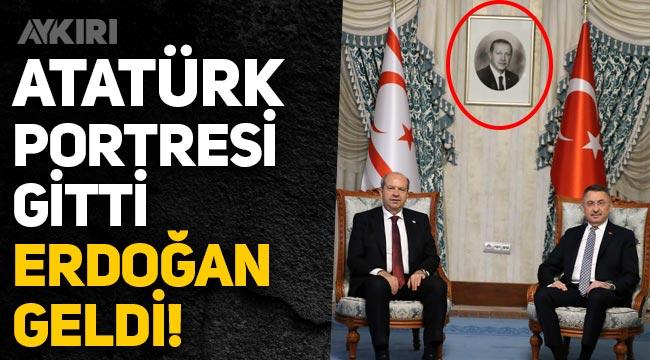 Atatürk portresi gitti, Erdoğan geldi!