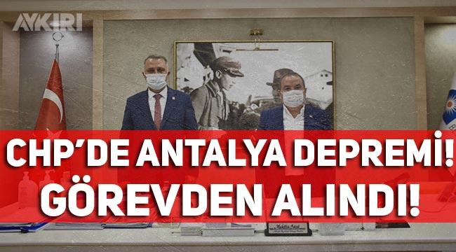 CHP'de Antalya depremi! İl Başkanı Nusret Bayar görevden alındı