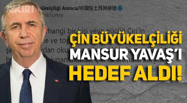 Çin Büyükelçiliği, Doğu Türkistan'daki Barın Katliamı için anma mesajı paylaşan Mansur Yavaş'ı hedef aldı