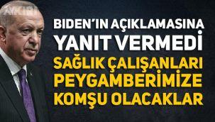 Erdoğan, Biden'ın açıklamasına cevap vermedi!