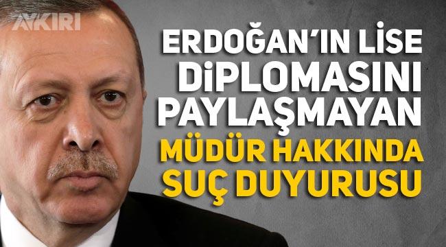 Erdoğan'ın mezunu olduğu lise müdürü hakkında suç duyurusu