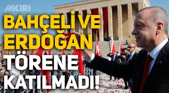 Erdoğan ve Bahçeli Anıtkabir'deki 23 Nisan törenine katılmadı