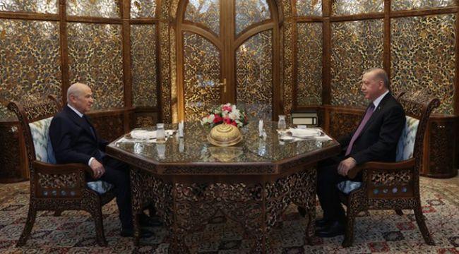 Erdoğan ve Bahçeli iftarda buluştu