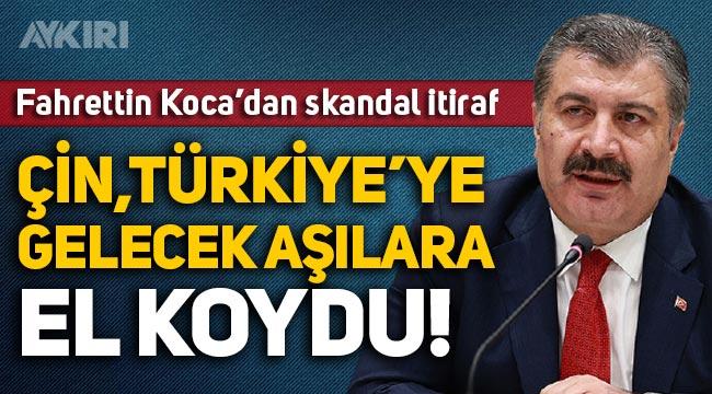 Fahrettin Koca'dan skandal itiraf: Çin, Türkiye'ye gelecek aşılara el koydu!