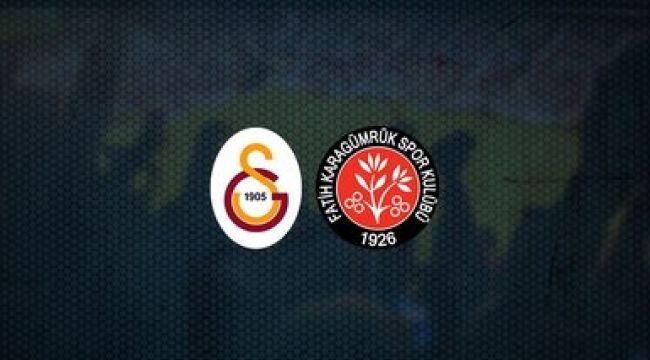 Galatasaray, evinde Fatih Karagümrük'ü konuk ediyor; işte muhtemel 11'ler