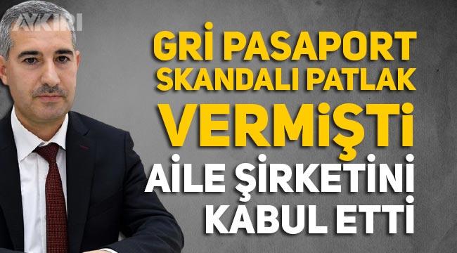 Gri pasaport skandalıyla gündeme gelen Yeşilyurt Belediye Başkanı Mehmet Çınar, aile şirketini kabul etti