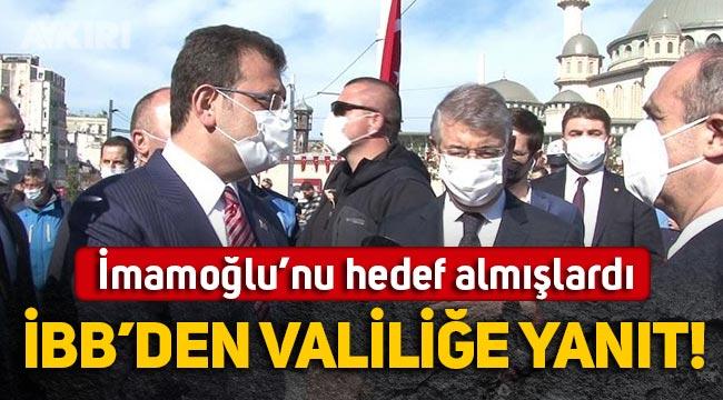 İstanbul Valiliği'nin Ekrem İmamoğlu'nu hedef alan açıklamasına İBB'den yanıt