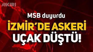 İzmir'de askeri uçak denize düştü!
