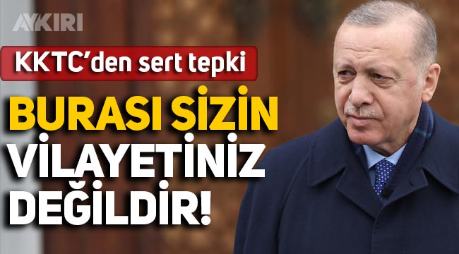 Kuzey Kıbrıs'tan Türkiye'ye sert sözler: Burası sizin vilayetiniz değildir