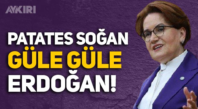 "Meral Akşener: ""Patates soğan güle güle Erdoğan"""