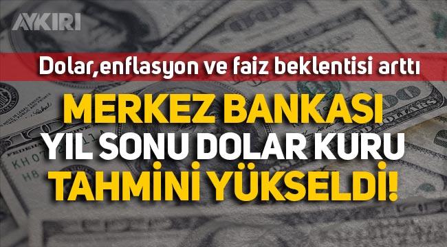 Merkez Bankası yıl sonu dolar kuru tahmini 8.57 TL oldu!