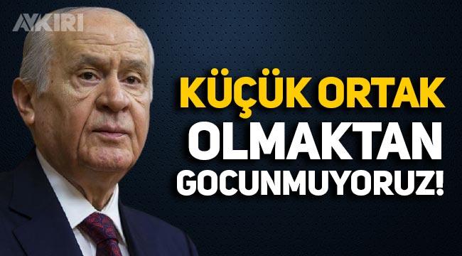 """MHP lideri Bahçeli: """"Biz küçük ortak olmaktan gocunmuyoruz"""""""