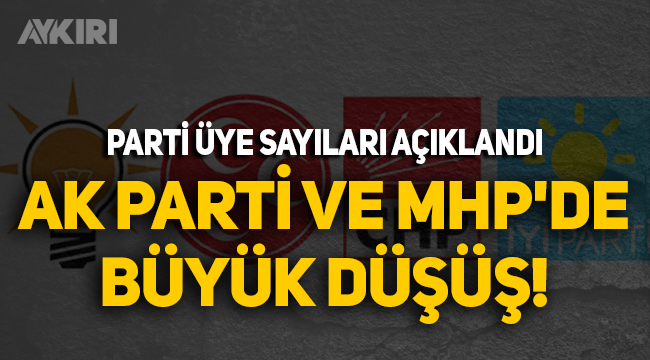Parti üye sayıları açıklandı: AK Parti ve MHP'de büyük düşüş!