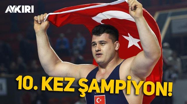 Rıza Kayaalp 10. kez Avrupa Şampiyonu oldu!