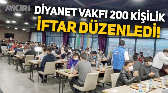 Türk Diyanet Vakfı, 200 kişilik toplu iftar düzenledi!
