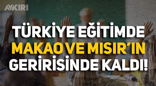 Türkiye, eğitim sıralamasında Makao ve Mısır'ın gerisinde kaldı, 50 ülke arasında 34. oldu!