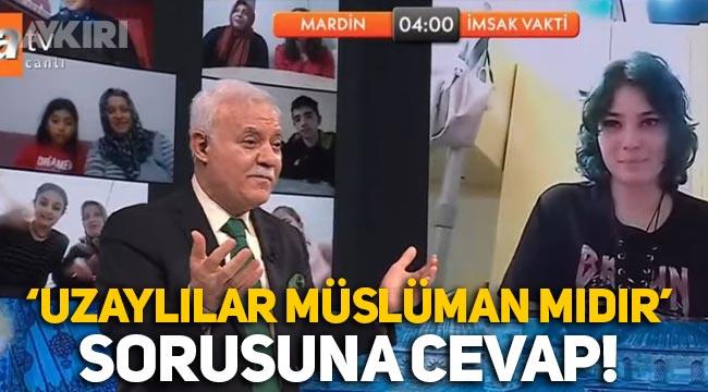 """""""Uzaylılar Müslüman mıdır?"""" sorusuna Nihat Hatipoğlu'ndan cevap"""
