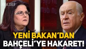 Yeni kurulan Aile Bakanlığı'na atanan Derya Yanık'tan Devlet Bahçeli'ye hakaret