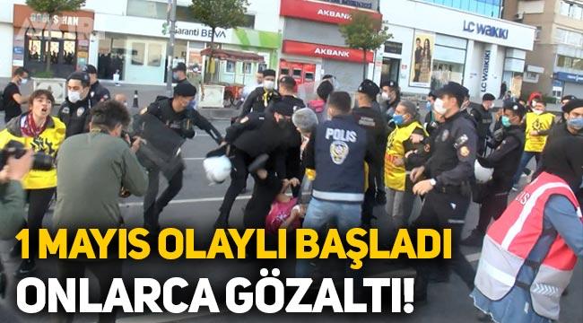 1 Mayıs olaylı başladı: Onlarca gözaltı!