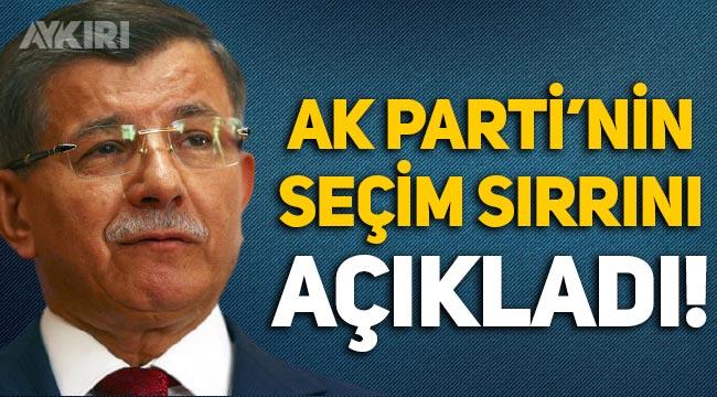 Ahmet Davutoğlu, AK Parti'nin seçim sırrını açıkladı