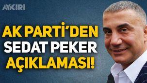 AK Parti'den Sedat Peker'in açıklamalarına cevap geldi!