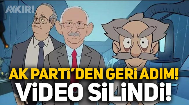 """AK Parti """"Yalan Üretim Merkezi"""" başlığıyla yayınladığı videoyu sildi"""