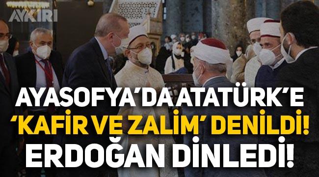 """Ayasofya'da Atatürk'e """"Zalim ve kafir"""" diyen Mustafa Demirkıran'a büyük tepki!"""