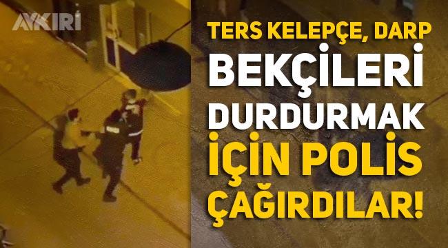 Beşiktaş'ın şampiyonluk kutlamalarında bekçilerin şiddet görüntüleri tepki çekti