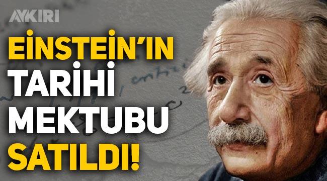 Einstein'ın 'E=mc2' formülünü yazdığı mektup 10 milyon TL'ye satıldı!