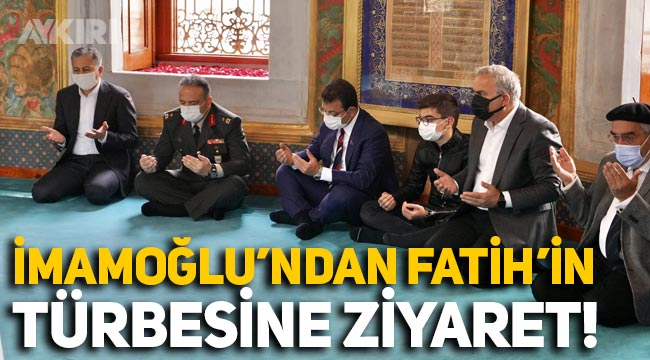 Ekrem İmamoğlu, Fatih Sultan Mehmet'in türbesini ziyaret etti