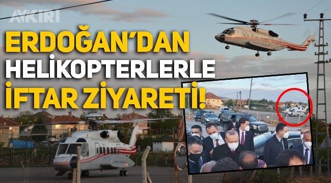 Erdoğan'ın Ankara Ayaş'taki iftar ziyaretine 2 helikopter ve onlarca zırhlı araçla gittiği ortaya çıktı