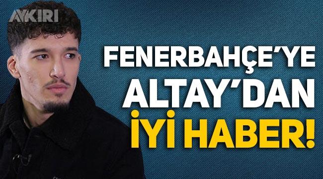 Fenerbahçe'ye Altay Bayındır'dan iyi haber! Çalışmalara başladı